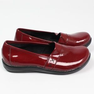 b.o.c. Born Concept red patent leather loafers